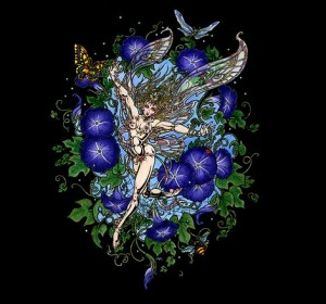 """Morning Glory Faerie"" by Maxine Miller ©"
